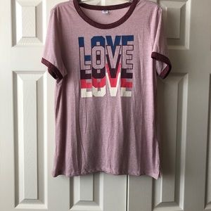 Old Navy Tops - OLD NAVY — Triple LOVE Tee💕💕